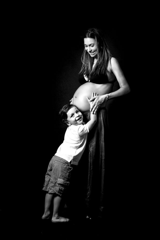 Embarazo Blanco Y Negro
