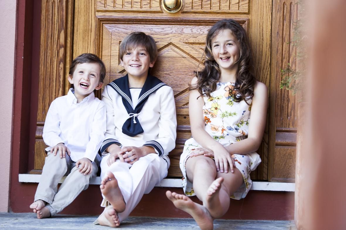 Fotos pre comunión en familia